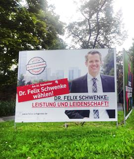 Anna Köhler für Schwenkes OB-Printkampagne verantwortlich